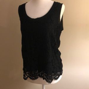❣️3 for $20❣️Banana Republic black lace top.